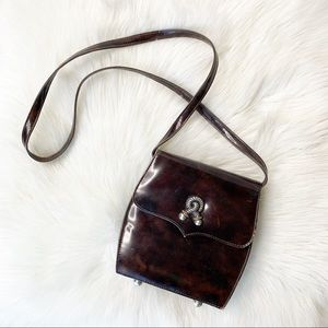 VTG Vicenza Patent Crossbody Mini Purse Bag